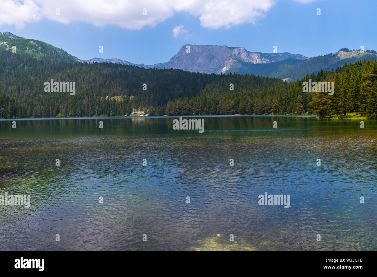 Montenegro, Black Lake in a Durmitor Park - Stock Image