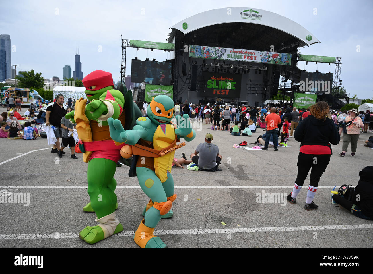 Nickelodeon SlimeFest 2019 at Huntington Bank Pavilion at Northerly Island in Chicago, IL, USA on June 8, 2019 Featuring: Atmosphere Where: Chciago, Illinois, United States When: 11 Jun 2019 Credit: Adam Bielawski/WENN.com - Stock Image