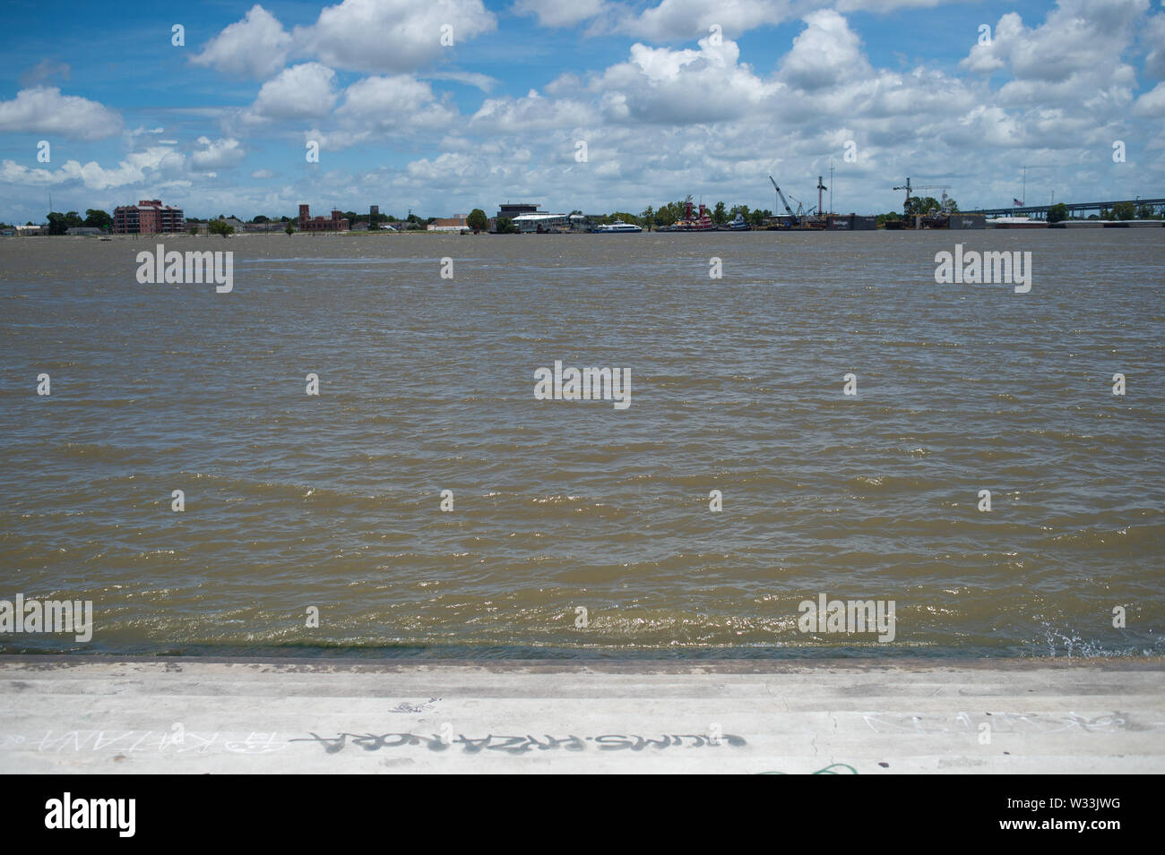 New Orleans, United States  11th July, 2019  Flood waters