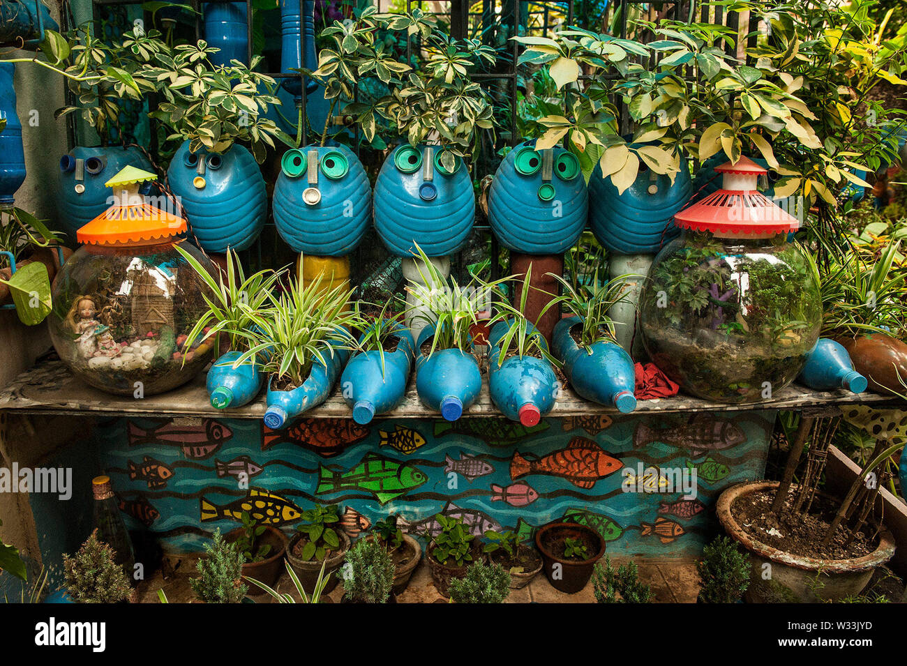 Kolkata 12th July 2019 Decorated Pots And Plants Made By