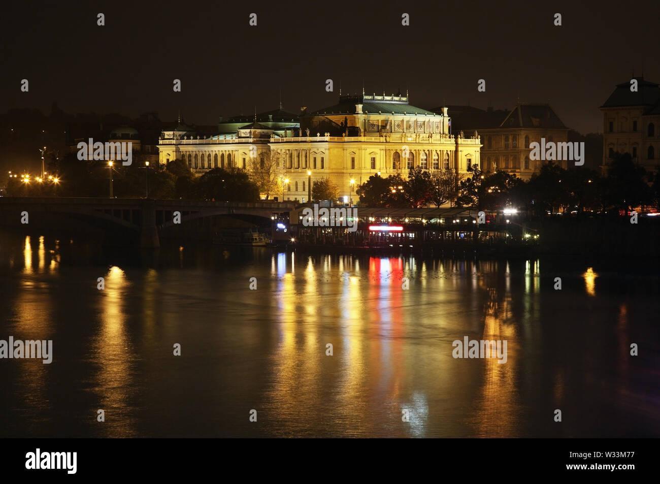 Rudolfinum in Prague. Czech Republic - Stock Image