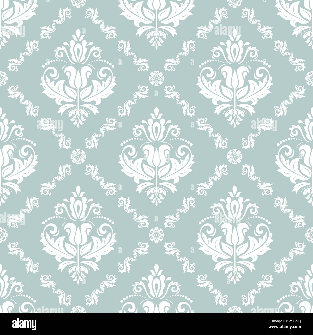 Classic Seamless Vector Pattern - Stock Image