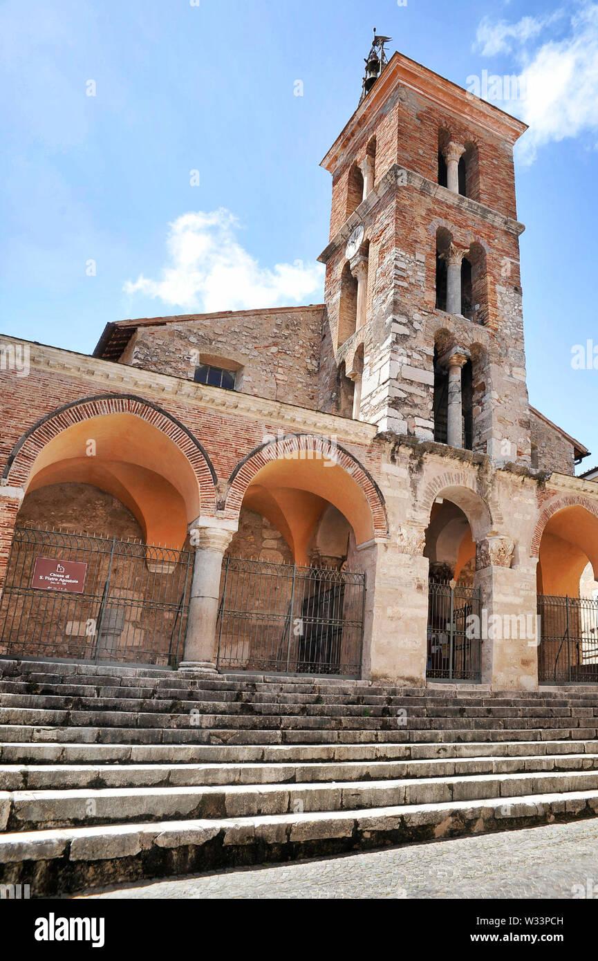 San Pietro Apostolo church, Minturno Stock Photo