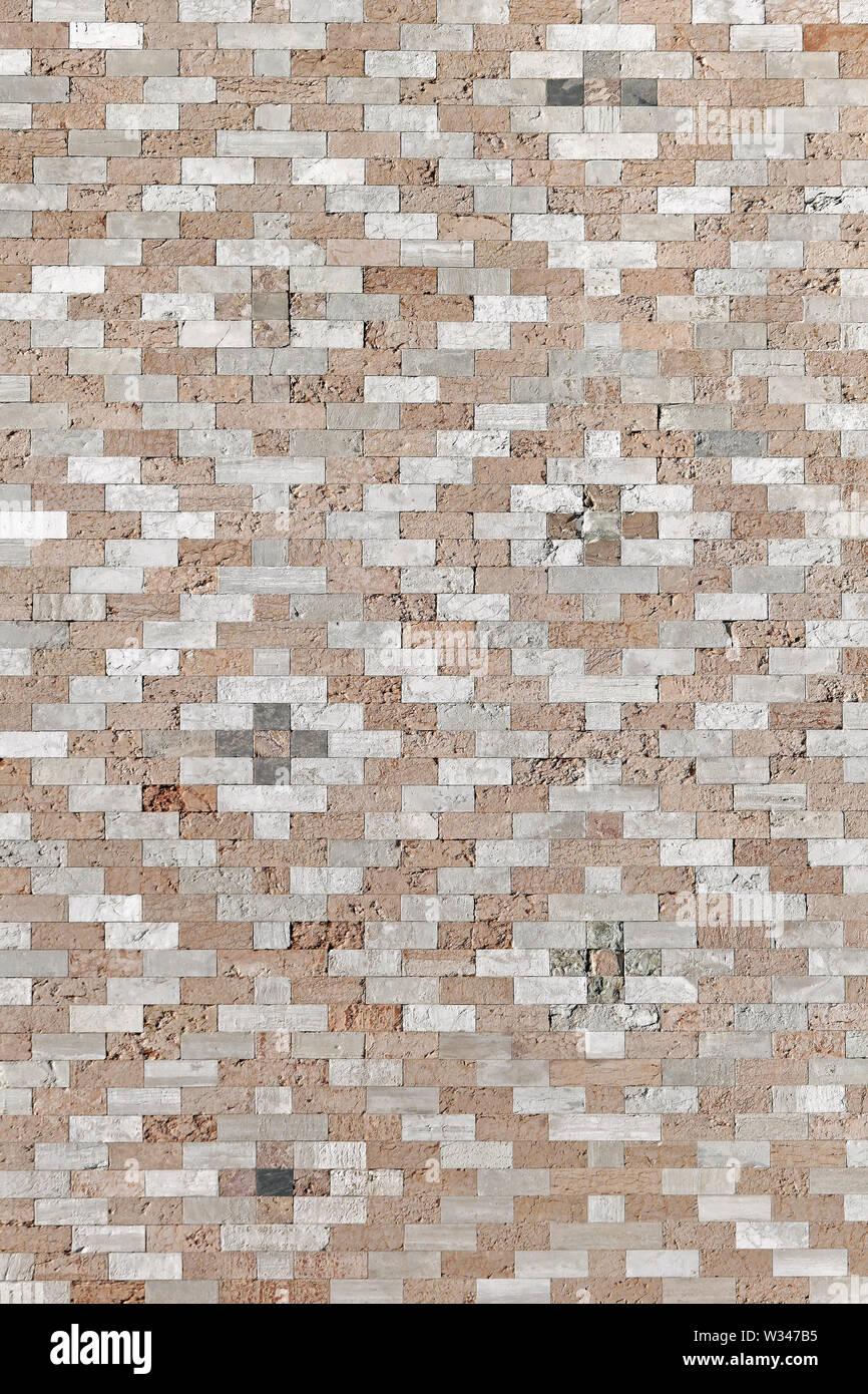 Bricks Wall at Doge Palace in Venice Italy - Stock Image