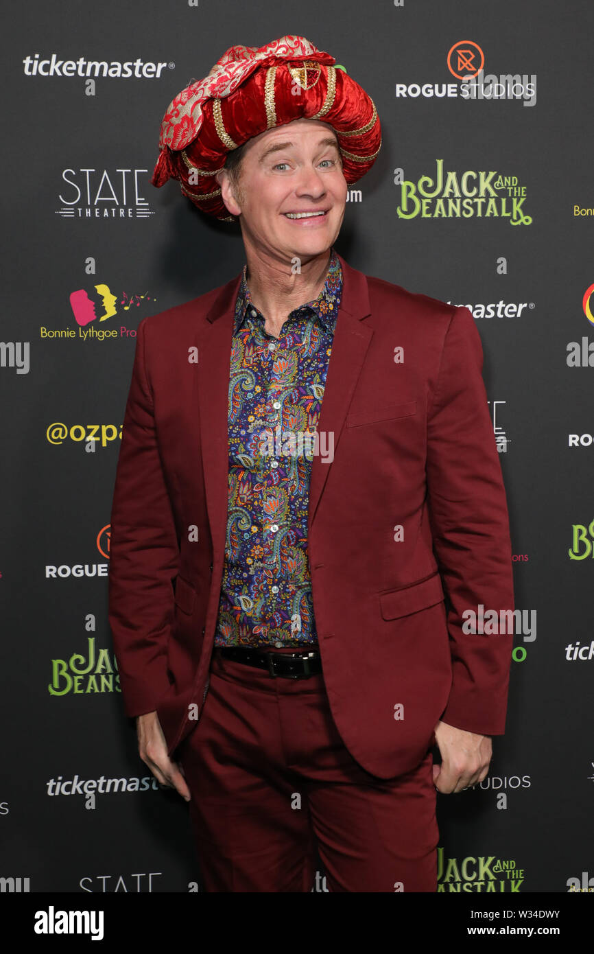 Sydney, Australia. 12th July 2019. Jack and the Beanstalk Giant 3D musical spectacular red carpet at the State Theatre. Pictured: Richard Reid. Credit: Richard Milnes/Alamy Live News Stock Photo