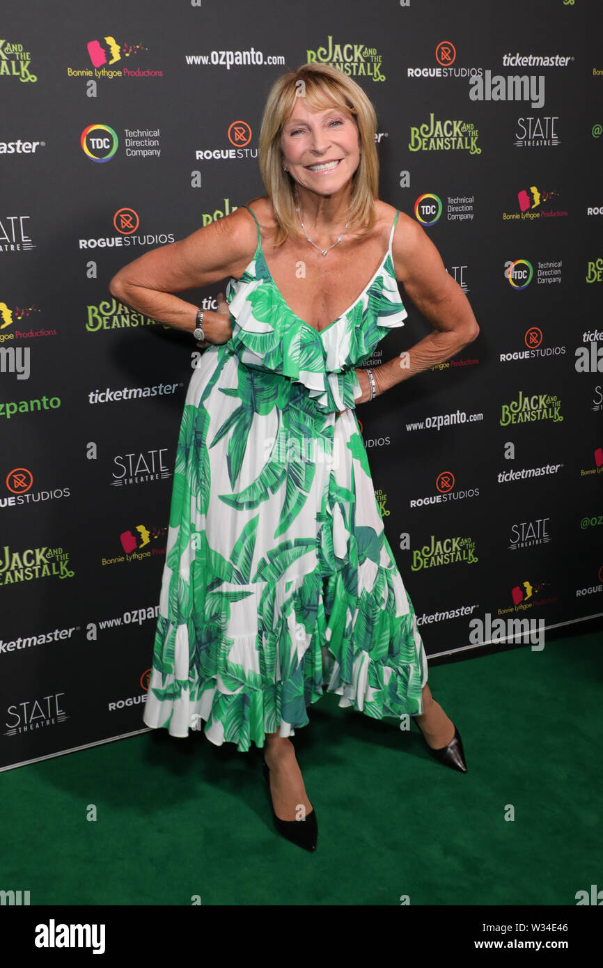 Sydney, Australia. 12th July 2019. Jack and the Beanstalk Giant 3D musical spectacular red carpet at the State Theatre. Pictured: Bonnie Lythgoe. Credit: Richard Milnes/Alamy Live News Stock Photo