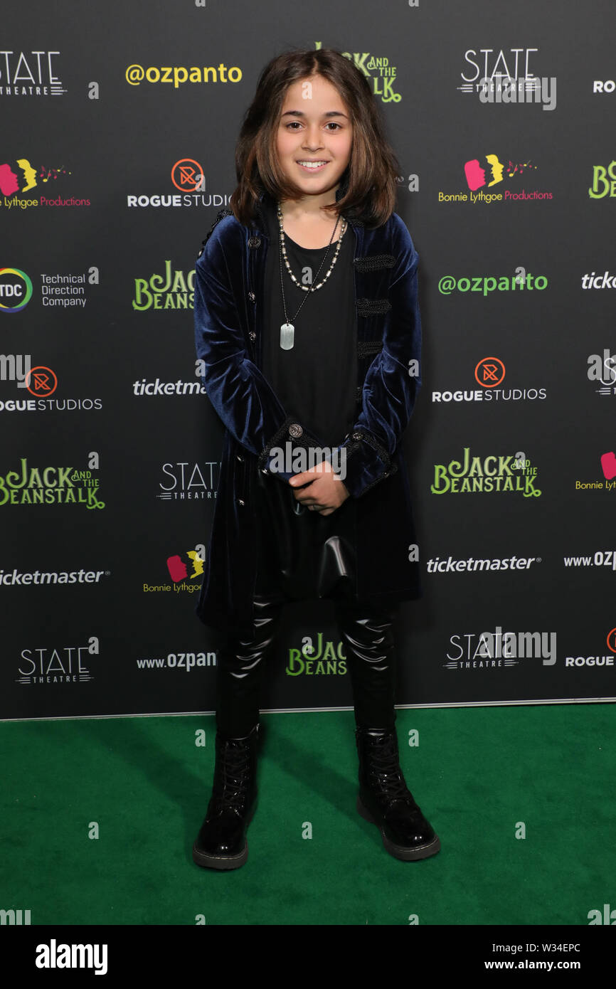 Sydney, Australia. 12th July 2019. Jack and the Beanstalk Giant 3D musical spectacular red carpet at the State Theatre. Pictured: Kaan Guldur. Credit: Richard Milnes/Alamy Live News Stock Photo