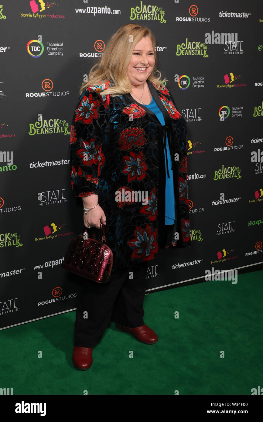 Sydney, Australia. 12th July 2019. Jack and the Beanstalk Giant 3D musical spectacular red carpet at the State Theatre. Pictured: Laura Mulcahy. Credit: Richard Milnes/Alamy Live News Stock Photo