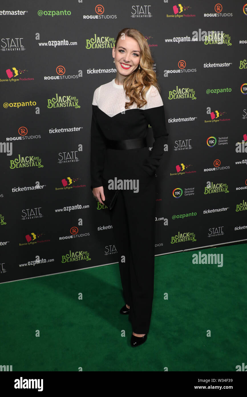 Sydney, Australia. 12th July 2019. Jack and the Beanstalk Giant 3D musical spectacular red carpet at the State Theatre. Pictured: Embla Bishop. Credit: Richard Milnes/Alamy Live News Stock Photo