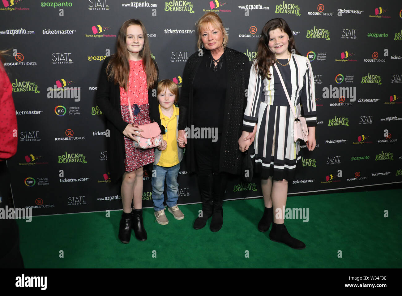 Sydney, Australia. 12th July 2019. Jack and the Beanstalk Giant 3D musical spectacular red carpet at the State Theatre. Credit: Richard Milnes/Alamy Live News Stock Photo