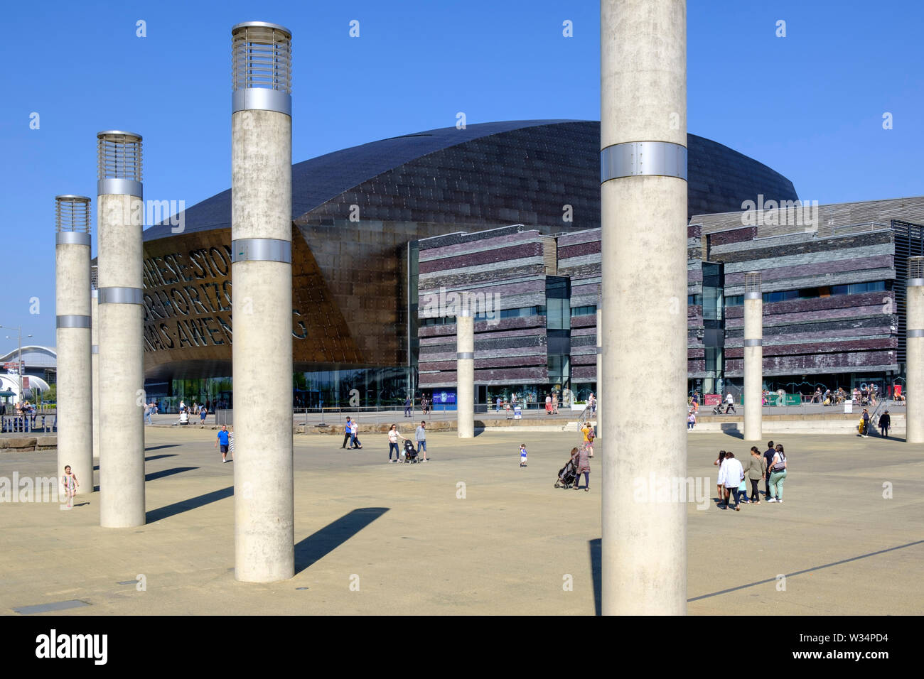 Millennium Centre  Cardiff Bay  Cardiff Wales Stock Photo