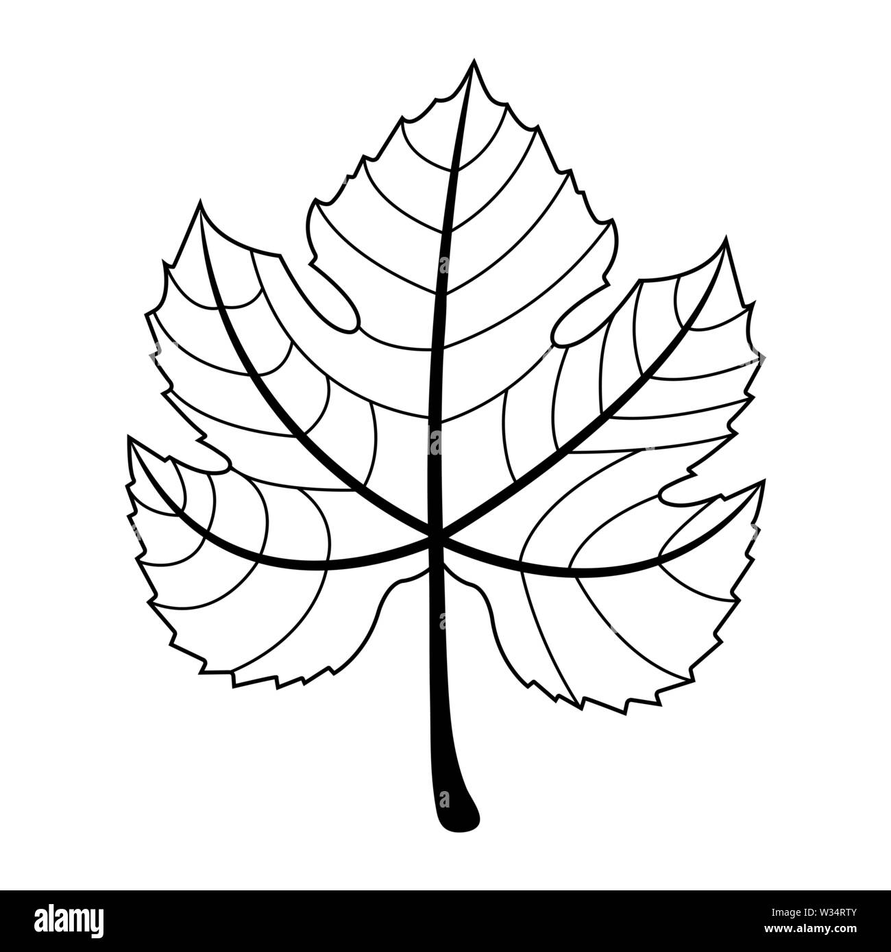 Wine Leaf Isolated On White Background Black Silhouette Of Grape Leaf Vector Illustration For Any Design Stock Vector Image Art Alamy