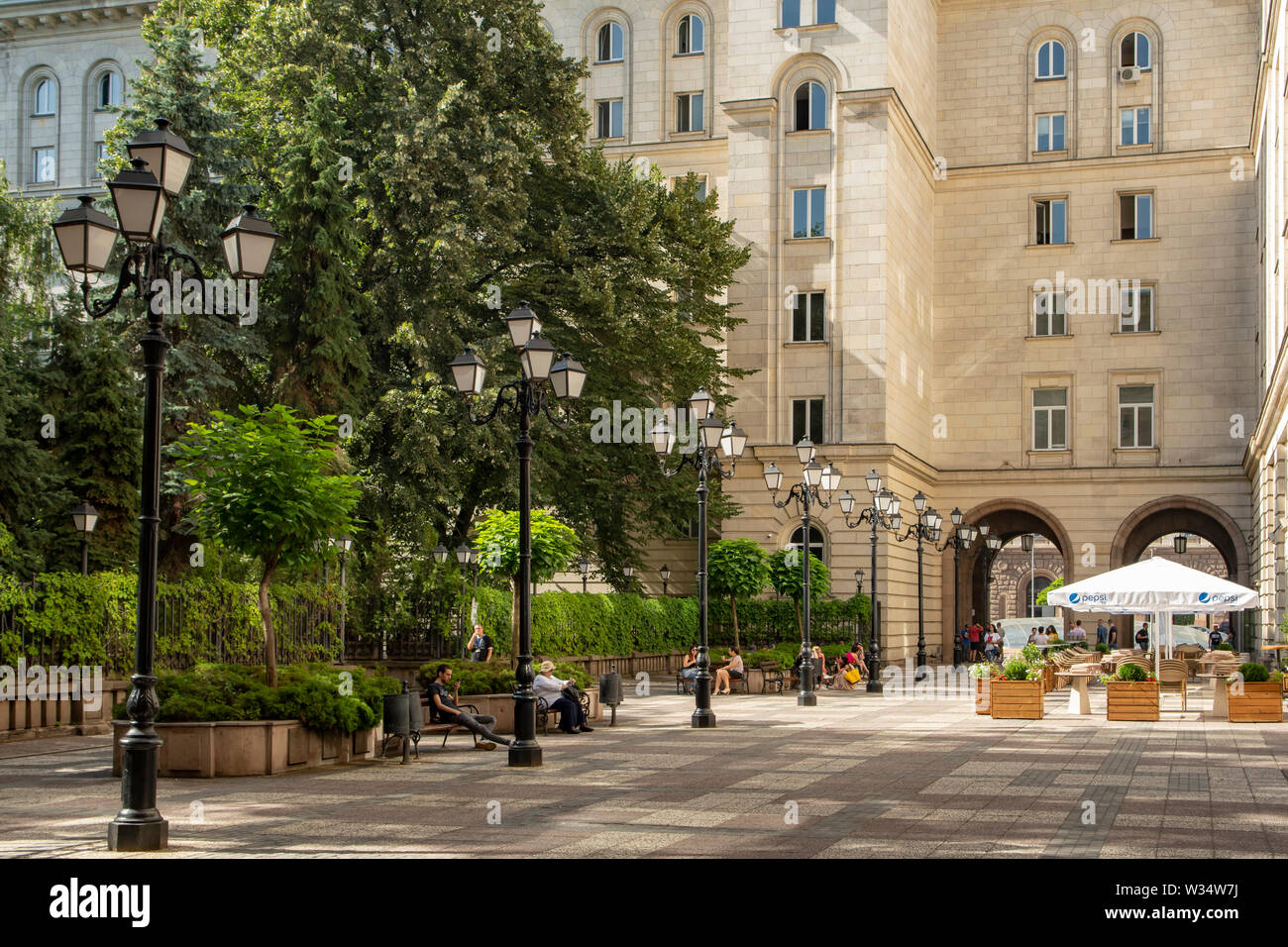 Courtyard in President's Building, Sofia, Bulgaria - Stock Image