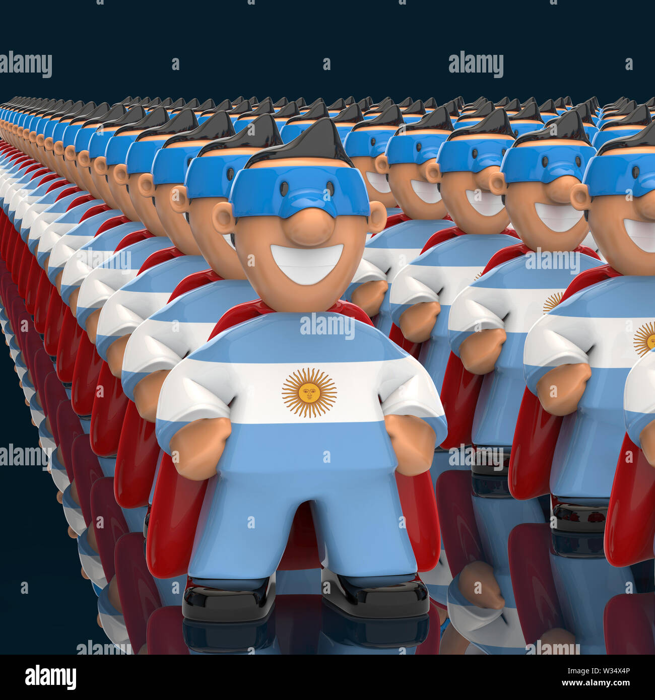 Superhero concept - 3D Illustration - Stock Image