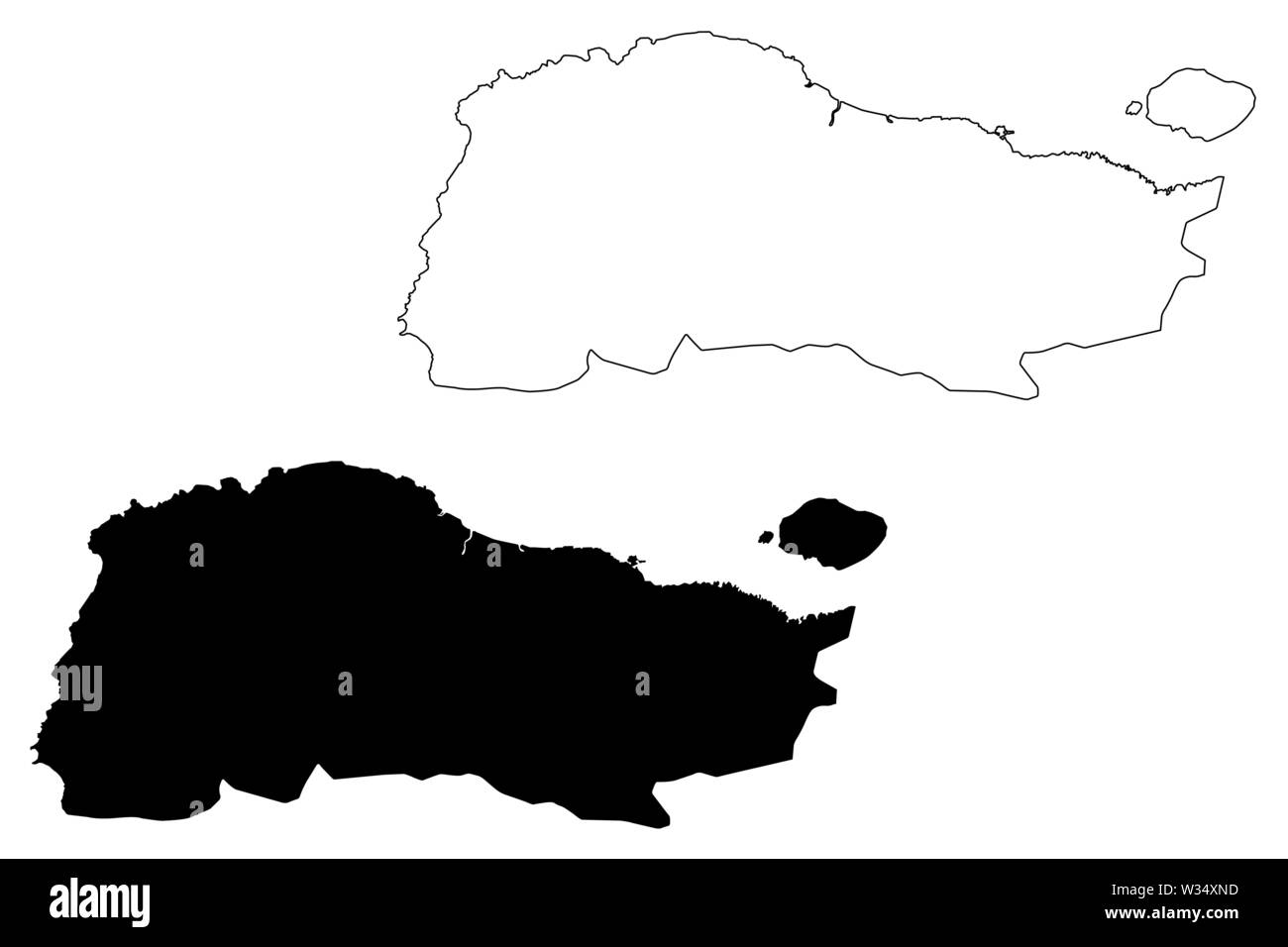 GrandAnse department (Republic of Haiti, Hayti, Hispaniola, Departments of Haiti) map vector illustration, scribble sketch Grand'Anse map Stock Vector