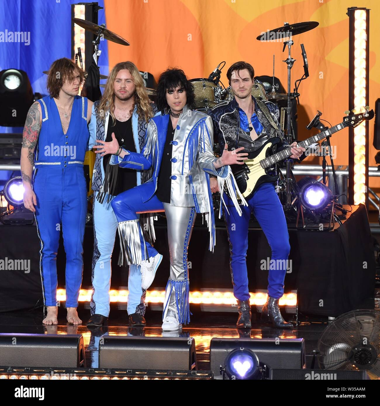 New York, NY, USA  12th July, 2019  The Struts on stage for