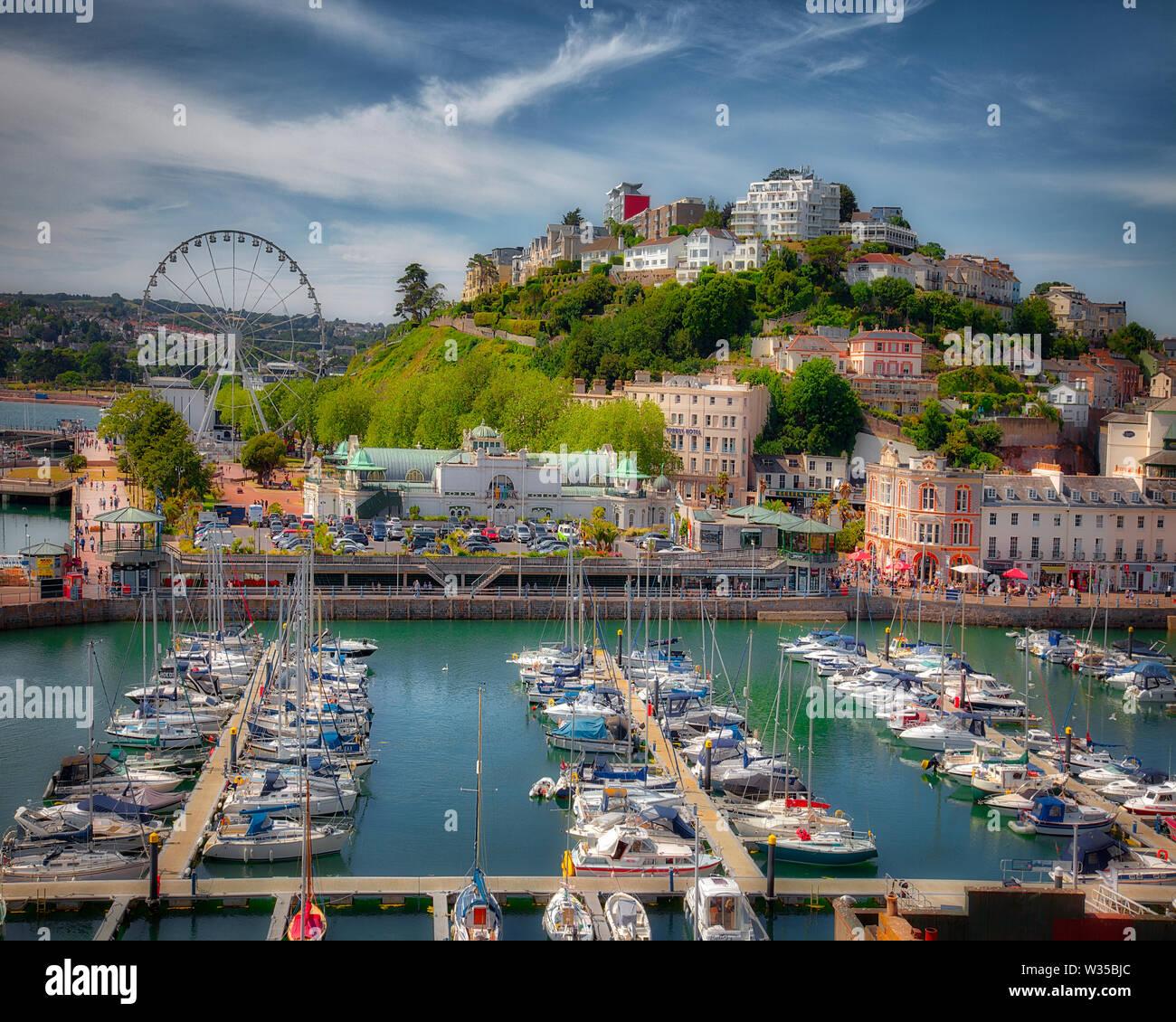 GB - DEVON: Torquay Harbour View  (HDR-Image) - Stock Image