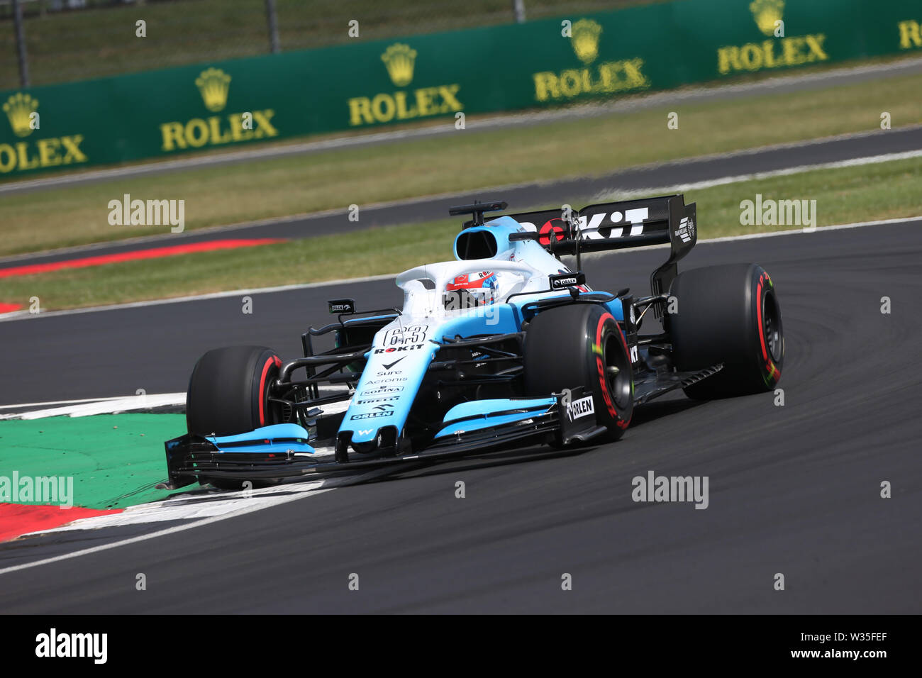 © Photo4 / LaPresse12/07/2019 Silverstone, England  Sport  Grand Prix Formula One England 2019 In the pic: free practice 2, George Russell (GBR) Williams F1 FW42 - Stock Photo