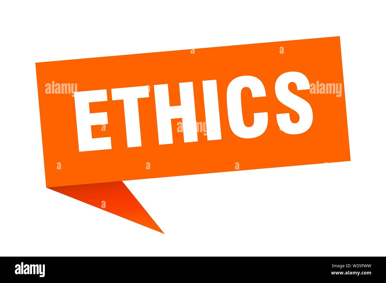ethics speech bubble. ethics sign. ethics banner - Stock Image