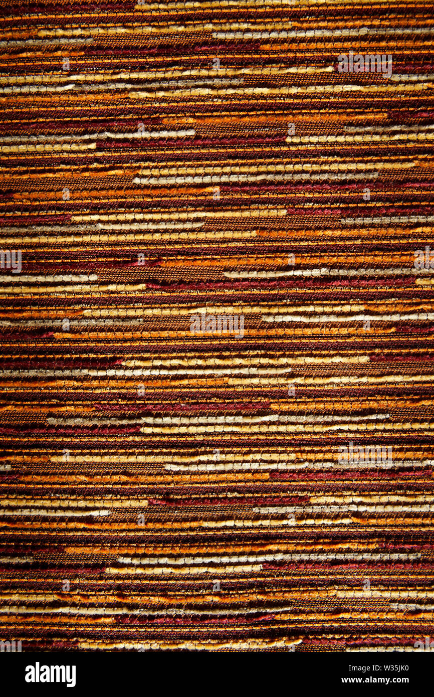Textile upholstery macro shot, can be used as background - Stock Image