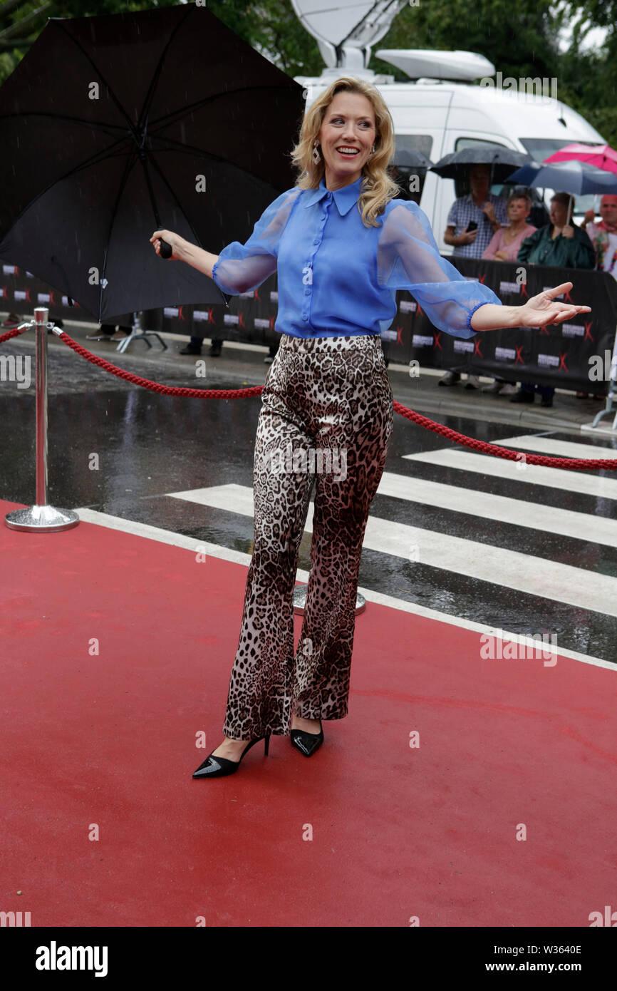 Worms, Germany. 12th July 2019. TV presenter Franziska