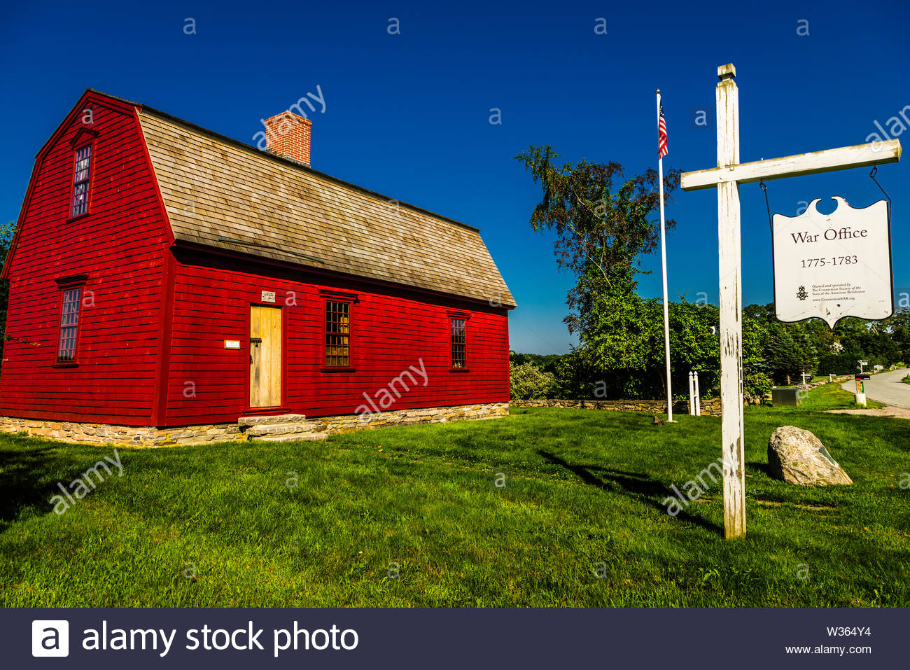 War Office _ Lebanon, Connecticut, USA - Stock Image