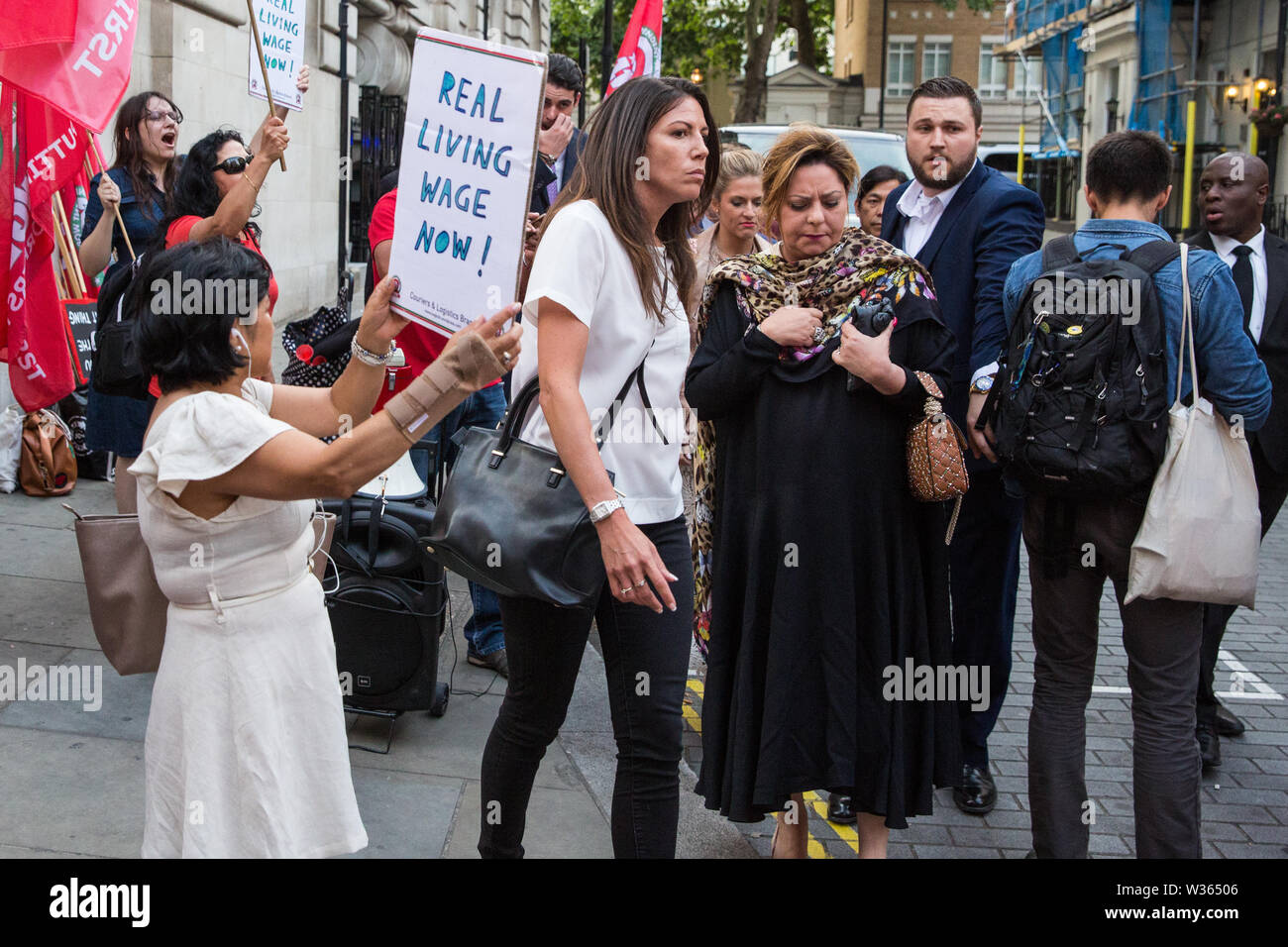 London, UK  12 July, 2019  Members of the Cleaners and Facilities