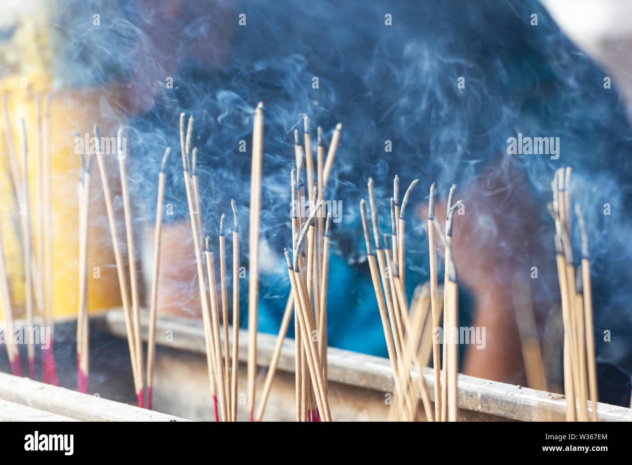 incense use for Worship And sacred things, According to ancient beliefs - Stock Image