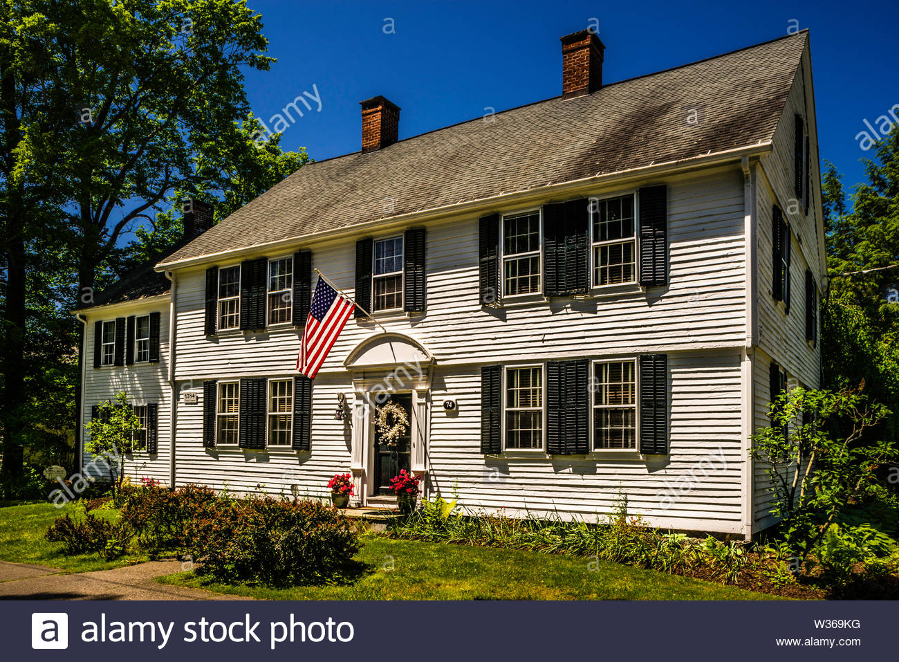 House on South Street Litchfield Historic District _ Litchfield, Connecticut, USA - Stock Image