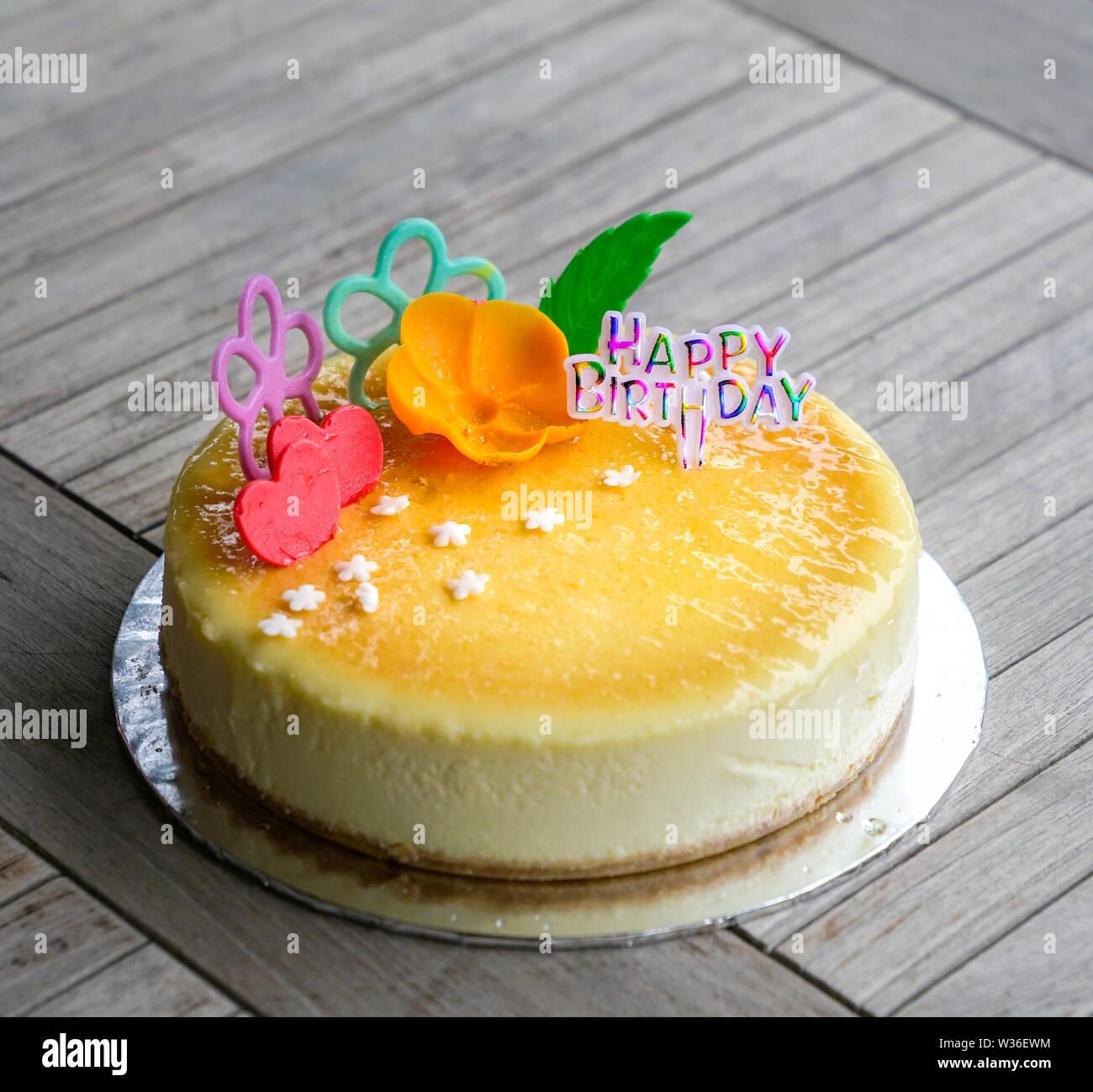 Marvelous Cheese Cake For Birthday Celebration Stock Photo 260142896 Alamy Funny Birthday Cards Online Amentibdeldamsfinfo