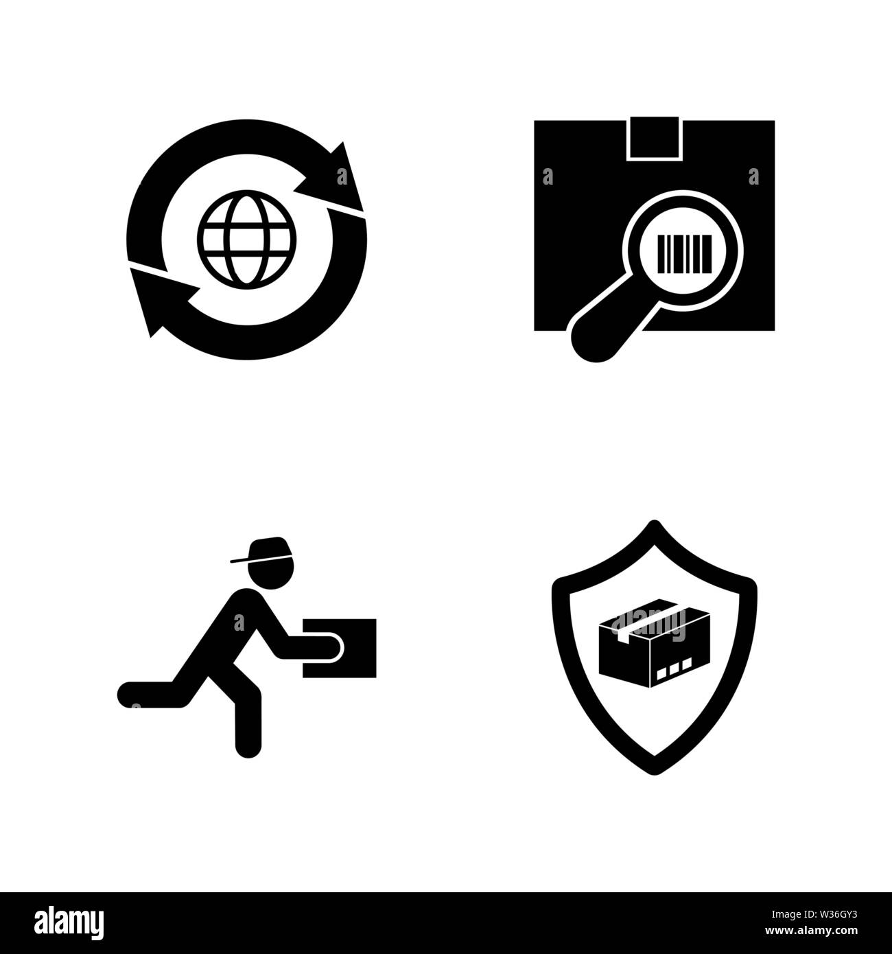 Logistic Shipping, Delivery. Simple Related Vector Icons Set for Video, Mobile Apps, Web Sites, Print Projects and Your Design. Logistic Delivery icon - Stock Image