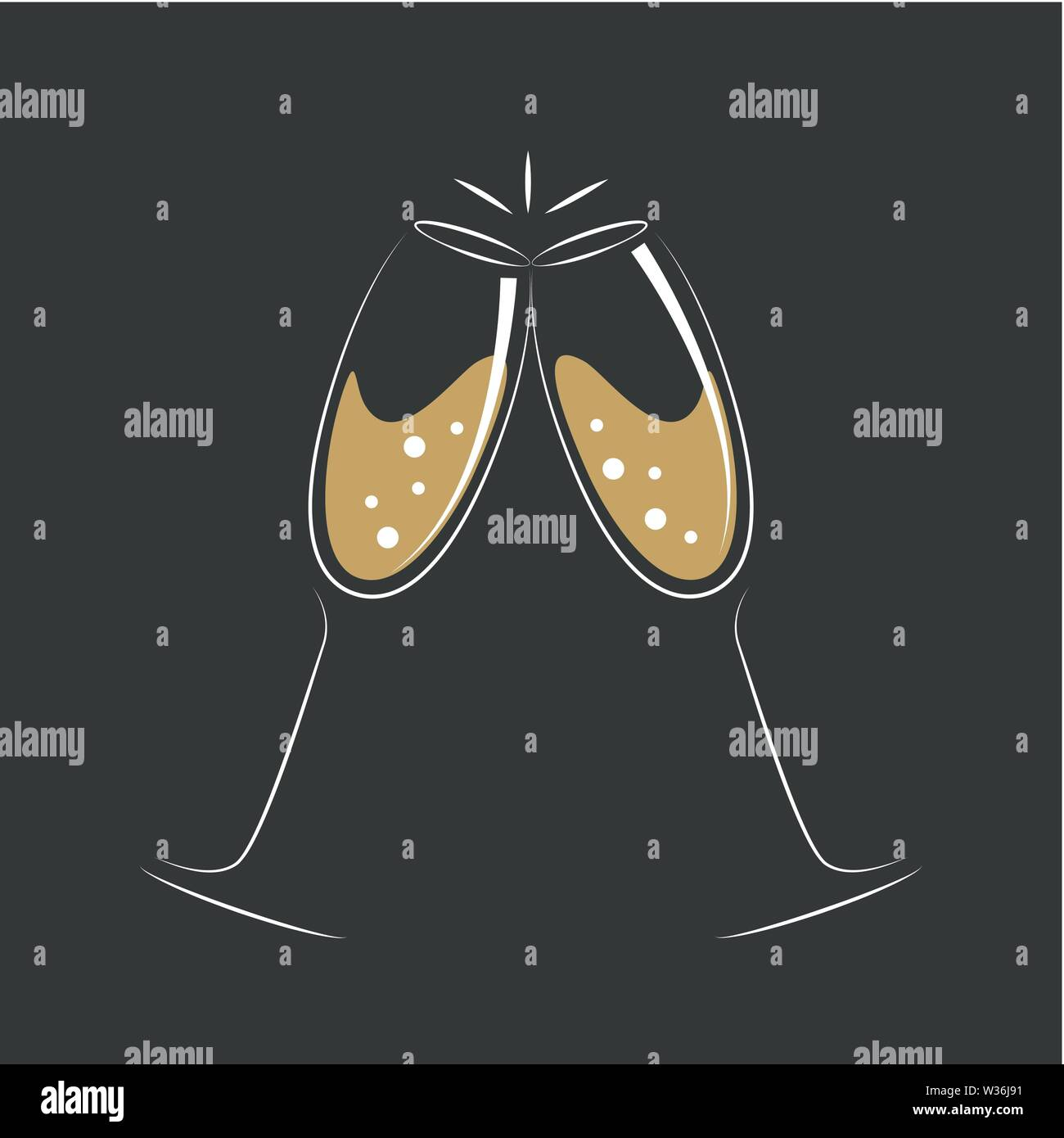 toasting with champagne celebration design vector illustration EPS10 Stock Vector
