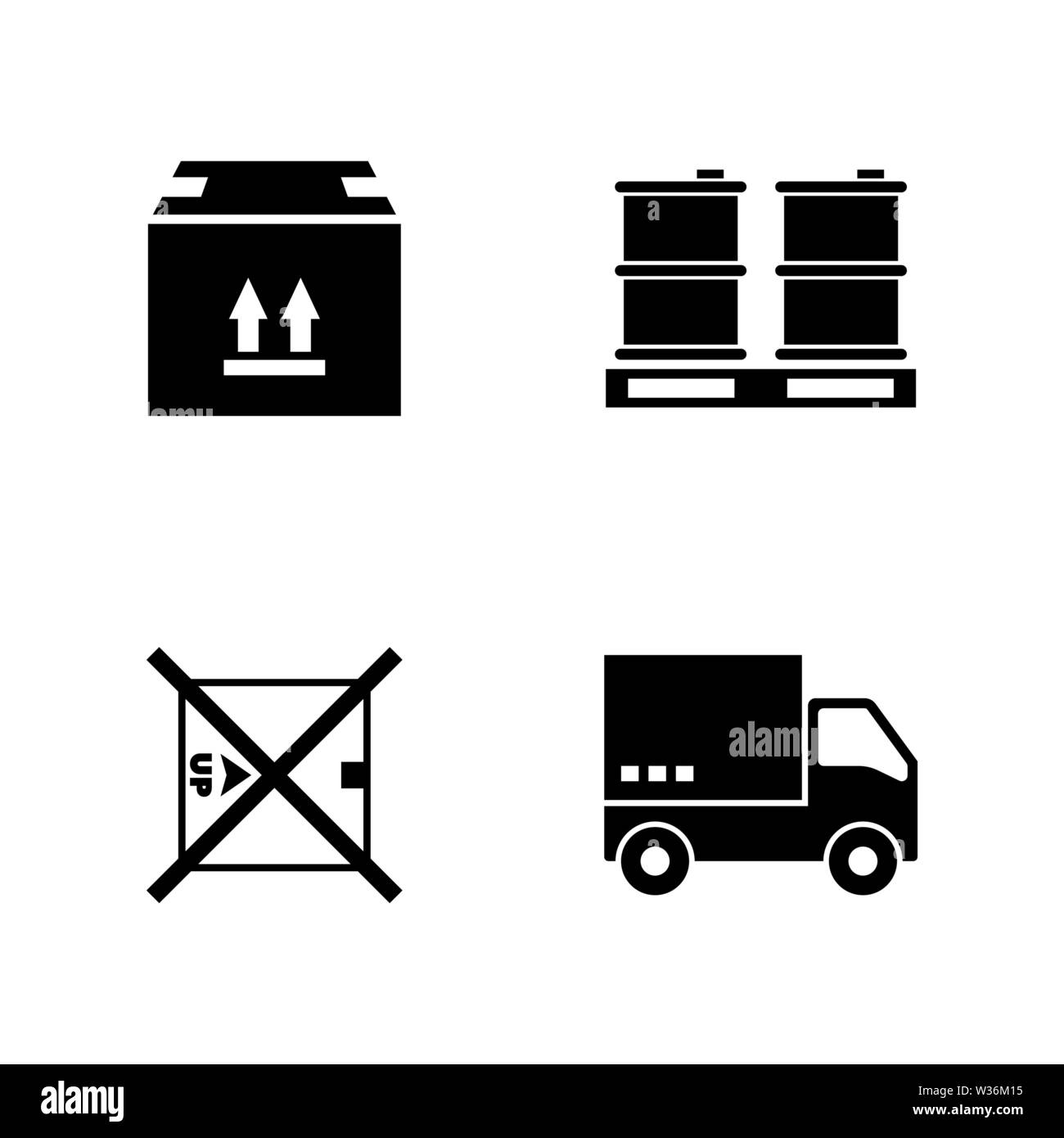 Express delivery. Simple Related Vector Icons Set for Video, Mobile Apps, Web Sites, Print Projects and Your Design. Black Flat Illustration on White - Stock Image