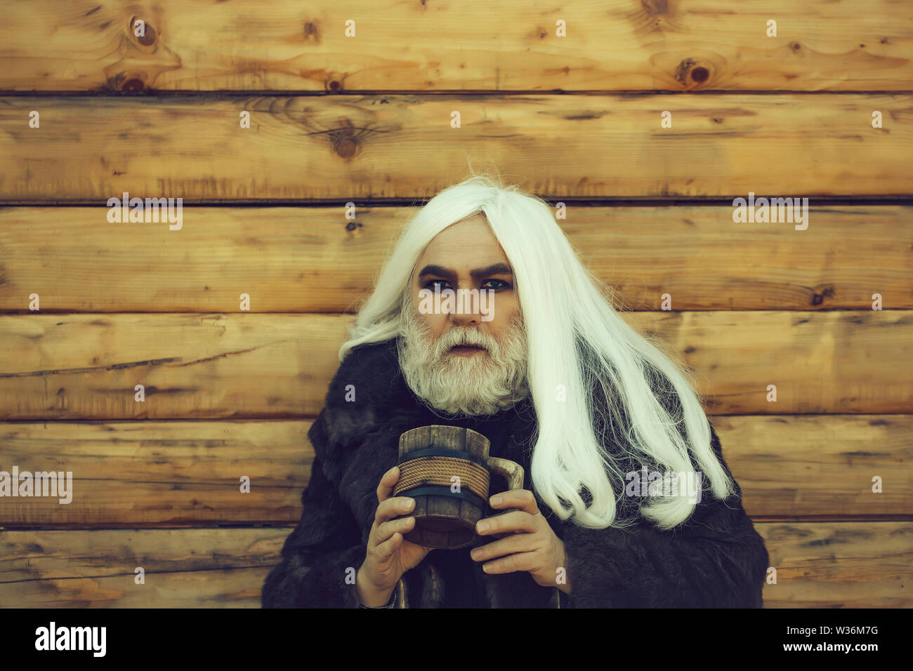 Old Man With Long Grey Hair High Resolution Stock Photography And Images Alamy