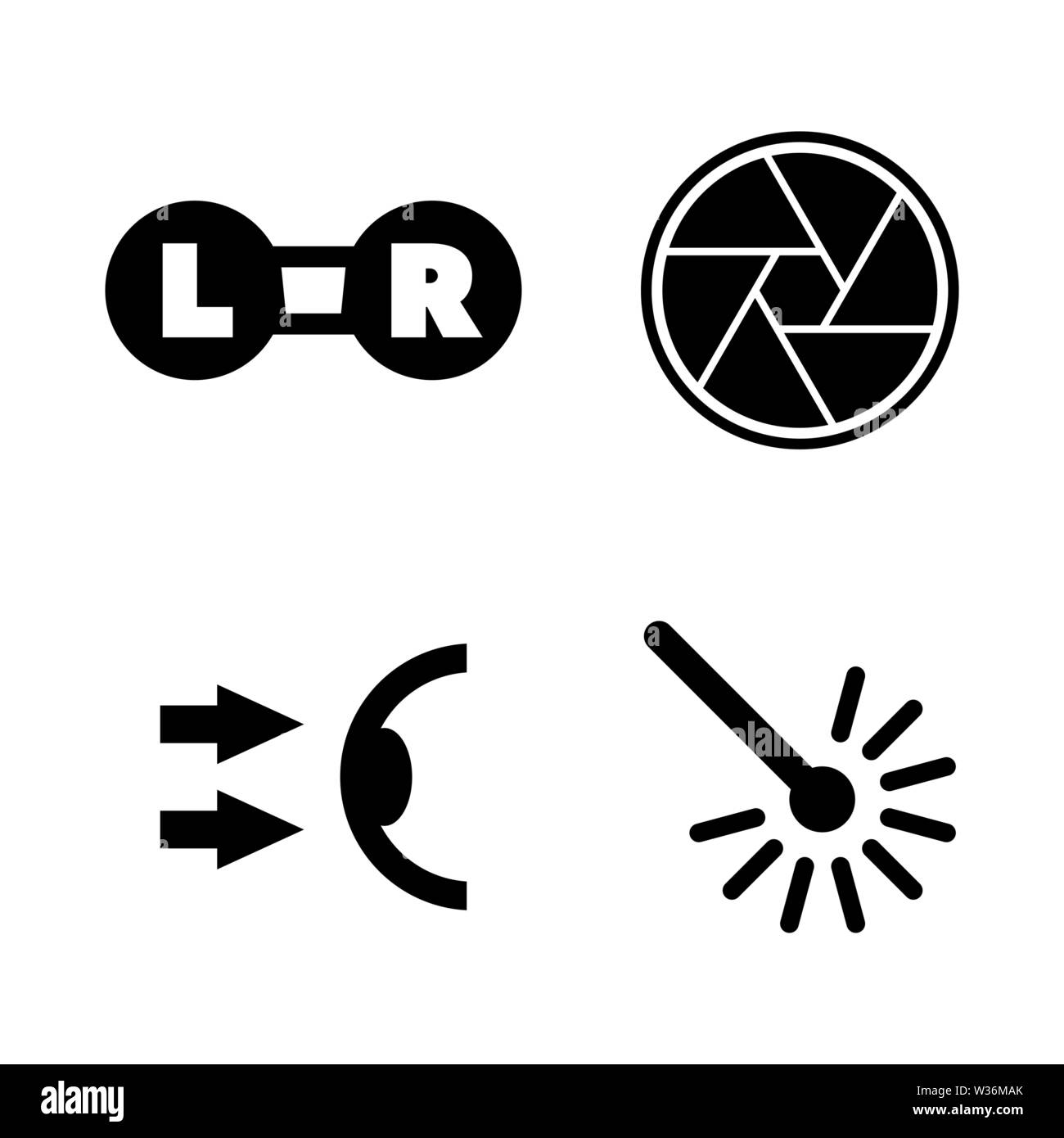 Oculist, Optometry. Simple Related Vector Icons Set for Video, Mobile Apps, Web Sites, Print Projects and Your Design. Oculist, Optometry icon Black F - Stock Image