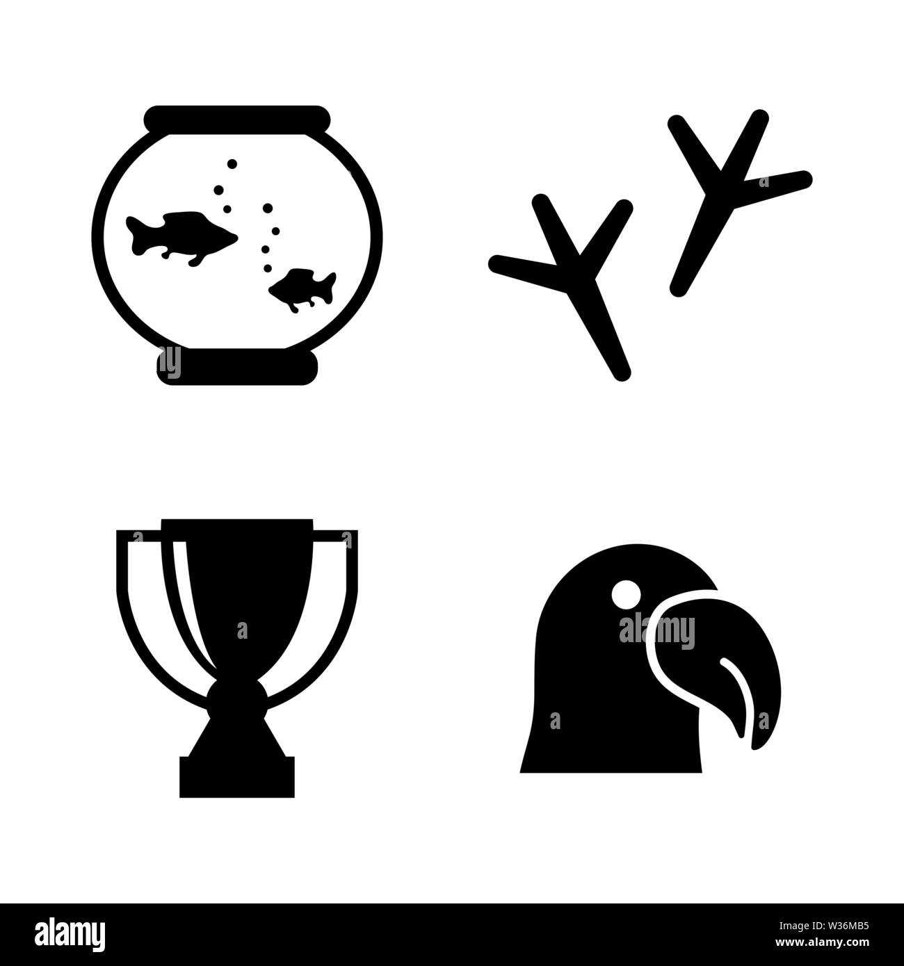 Animal Exhibition. Simple Related Vector Icons Set for Video, Mobile Apps, Web Sites, Print Projects and Your Design. Animal Exhibition icon Black Fla - Stock Image