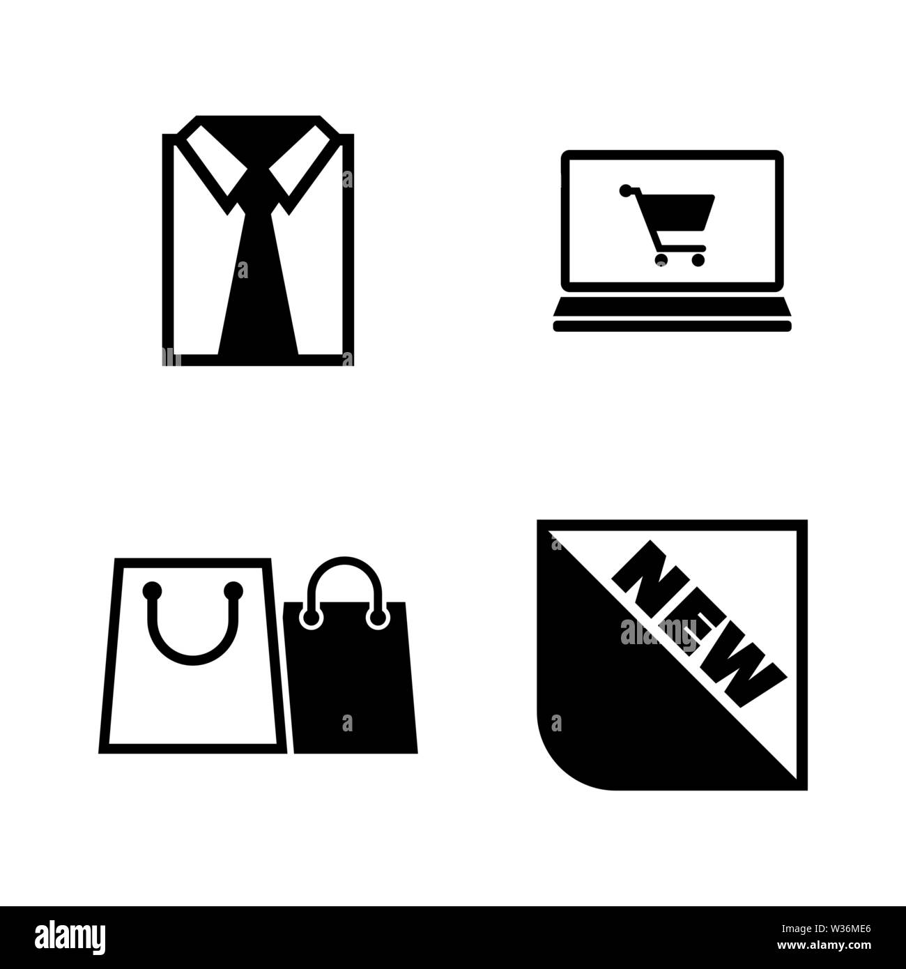Shopping, Buying Clothes. Simple Related Vector Icons Set for Video, Mobile Apps, Web Sites, Print Projects and Your Design. Shopping, Buying Clothes - Stock Image