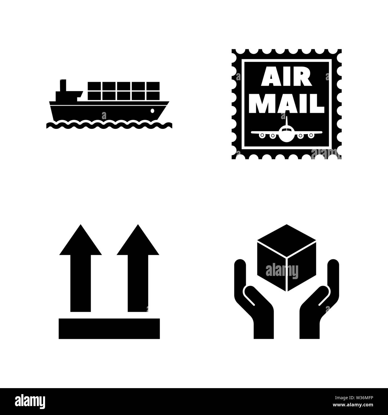 Logistics, Delivery, Shipping. Simple Related Vector Icons Set for Video, Mobile Apps, Web Sites, Print Projects and Your Design. Logistics, Delivery - Stock Image