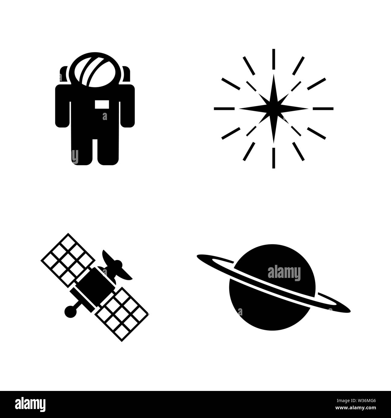 Deep Space Exploration. Simple Related Vector Icons Set for Video, Mobile Apps, Web Sites, Print Projects and Your Design. Deep Space Exploration icon Stock Vector