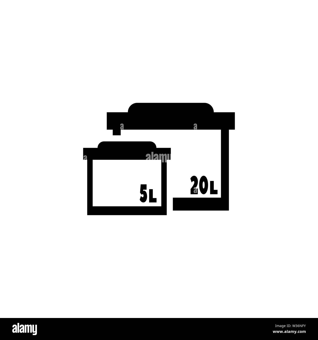 Aquarium forms. Empty glass tanks vector icon. Simple flat symbol on white background - Stock Image