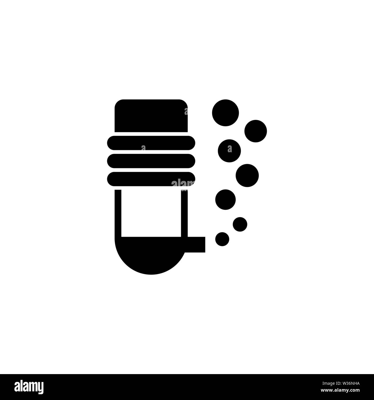 Aquarium oxygen filter vector icon. Simple flat symbol on white background - Stock Image