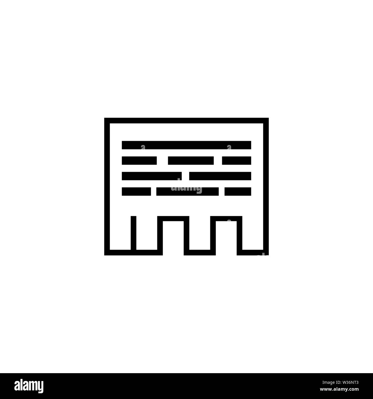 Tear off Paper Advertisement vector icon. Simple flat symbol on white background - Stock Image