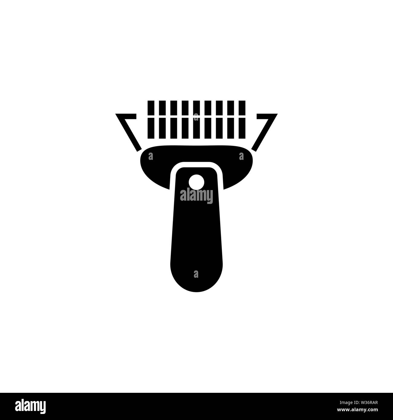 Barcode Scanner  Flat Vector Icon illustration  Simple black symbol