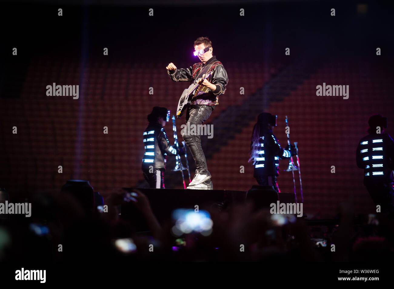 Milan, 12th of July. MUSE performs live @ Stadio Giuseppe Meazza di San Siro, Milano. Copyright Davide Merli | Alamy Stock Photo