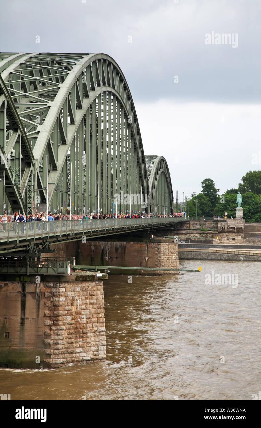 Hohenzollern bridge in Cologne (Koln). Germany - Stock Image