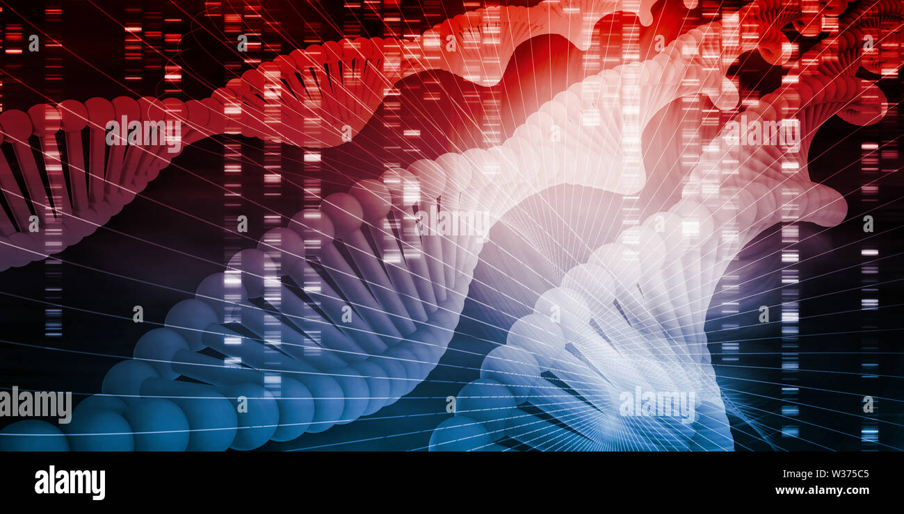DNA Medical Science and Biotech Chemistry Genes - Stock Image