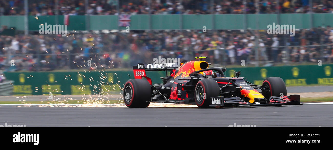 Silverstone Circuit. Northampton, UK. 13th July, 2019. FIA Formula 1 Grand Prix of Britain, Qualification Day; Max Verstappen driving his Aston Martin Red Bull Racing RB15 Credit: Action Plus Sports/Alamy Live News - Stock Image