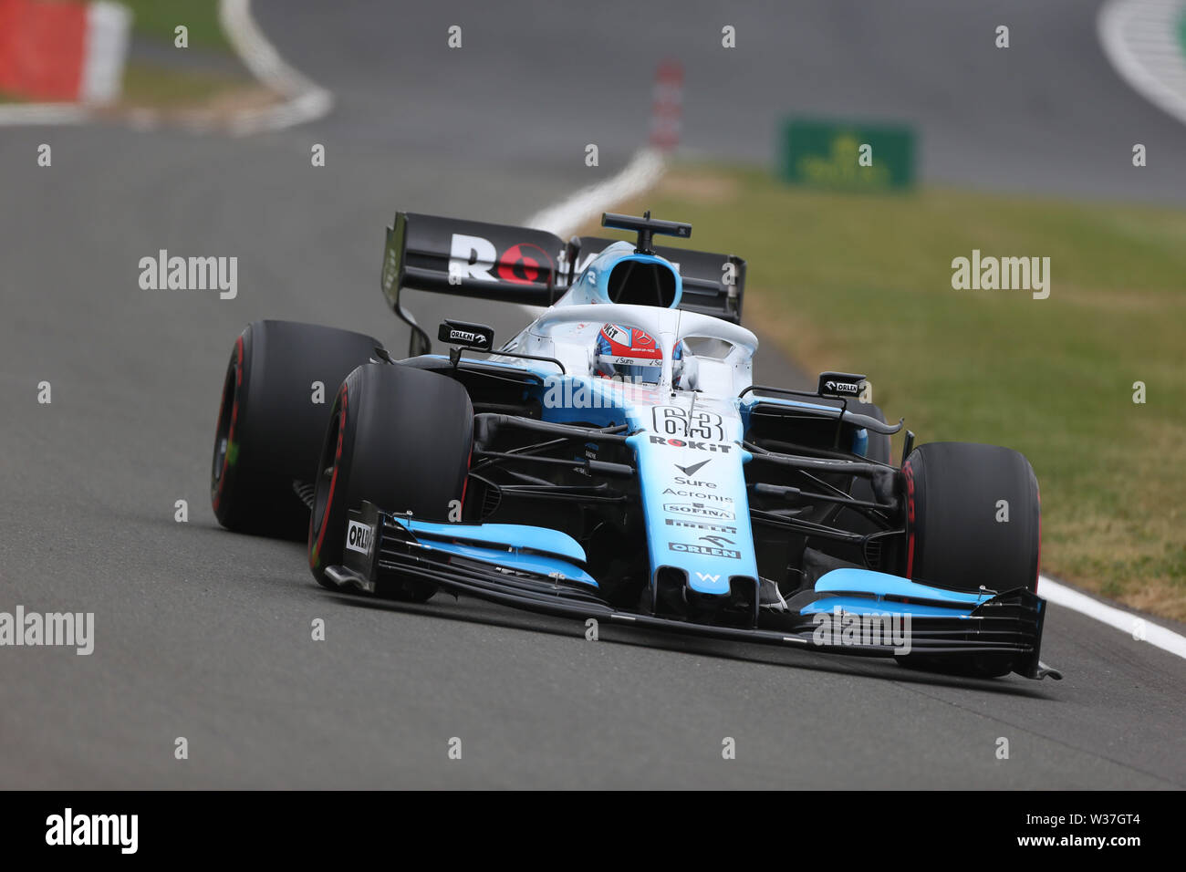 © Photo4 / LaPresse13/07/2019 Silverstone, England  Sport  Grand Prix Formula One England 2019 In the pic: free practice 3, George Russell (GBR) Williams F1 FW42 - Stock Photo