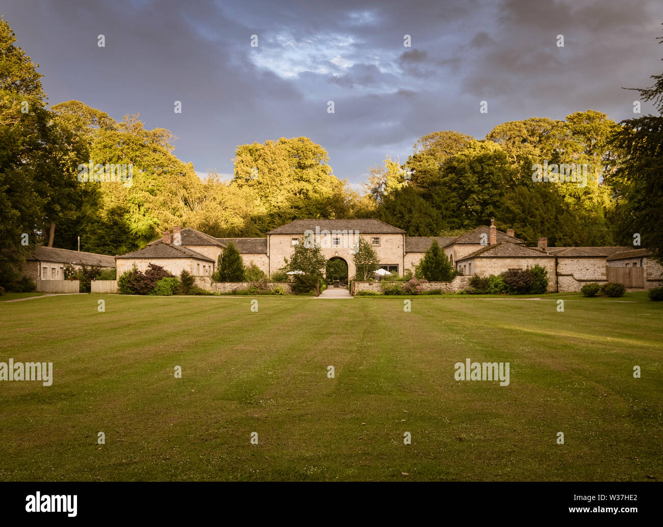 The Coach House Middleton Lodge Stately Home Now Hotel and Wedding Venue near Richmond North Yorkshire - Stock Image