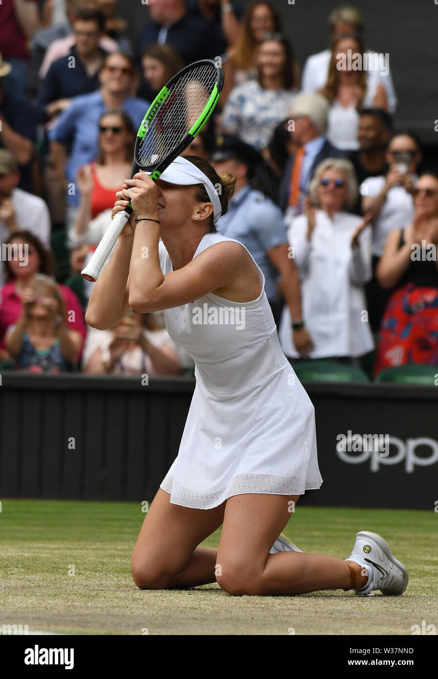 London, UK. 13th July, 2019. The Championships Wimbledon 2019 13072019 Simona Halep( ROU) wins Ladies Final Credit: Roger Parker/Alamy Live News - Stock Image
